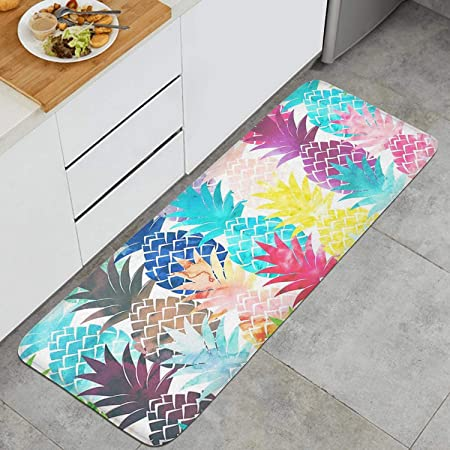 Anti Fatigue Waterproof Oil Proof Rugs Cushioned Washable Chef Soft Non-Slip Rubber Back Floor Mats Doormat Bathroom Runner Area Rug Carpet 18 x 29, Grey Marble KIMODE  Kitchen Mat
