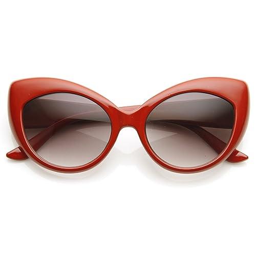 492fb28b1c Oversized Vintage Inspired Super   Bold Retro Designer Cat Eye Sunglasses  ...
