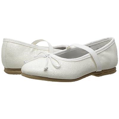 Jumping Jacks Kids Balleto Kayla (Toddler/Little Kid/Big Kid) (White Glitter) Girls Shoes
