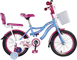 """Vaux Bicycle for Kids- Vaux Princess 16T Kids Bicycle for Girls. Ideal for Cyclist with Height (3'5"""" – 4') – Blue."""