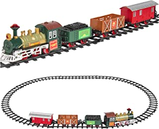 Best Choice Products Kids Electric Railway Set with Music and Lights, Multicolor