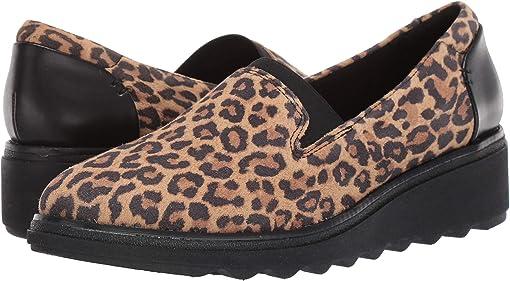 Tan Leopard Suede