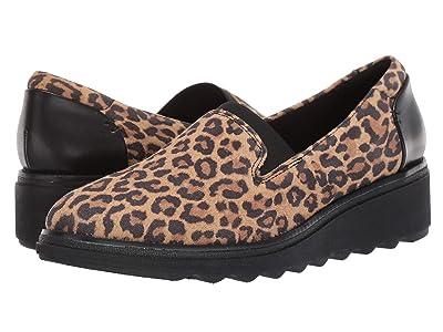 Clarks Sharon Dolly (Tan Leopard Suede) Women