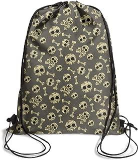 Camouflage Skull Drawstring Backpack retro cinchgymsack pattern bag