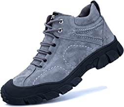 ORISTACO Steel Toe Work Boots, Comfortable Slip Resistant Industrial Construction Safety Shoes