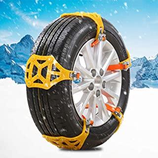 Universal Widened Tire Snow Chain Anti-Skid Tire Chains Emergency Traction Wheel Cable Ties SKIESOAR 10 Pcs 185-225mm Car Tire Snow Chains Set