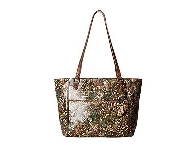 Sakroots Artist Circle Medium Embellished Satchel (Sienna Spirit Desert) Tote Handbags