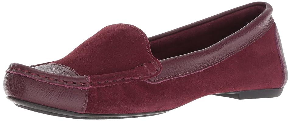 言語学抜け目がないアーティファクト[エフエススラッシュエヌワイ] Women's Allure2 Bordo Suede/Leather Ankle-High Suede Loafer - 8M