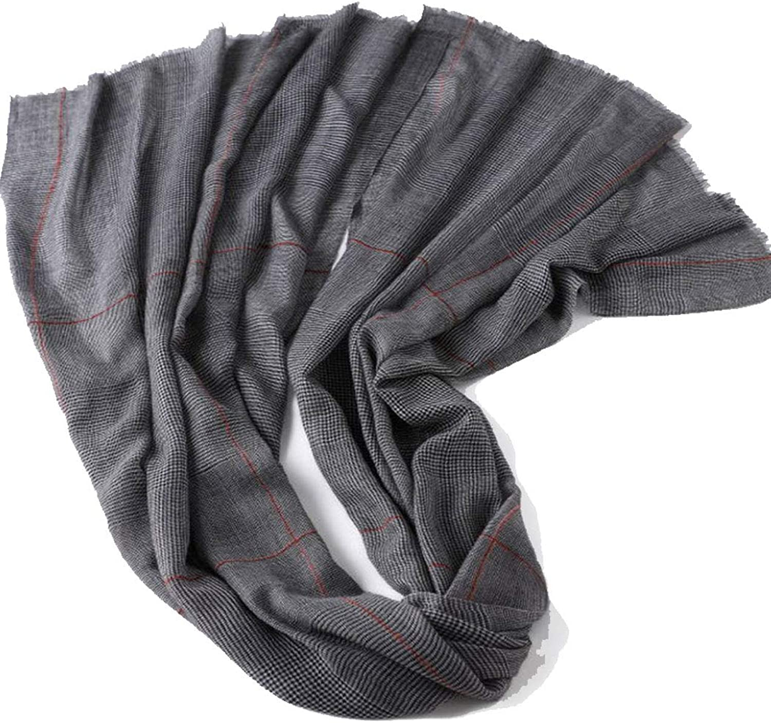HUIFANG Thin Section Cashmere Scarf Worsted YarnDyed Shawl Women's New European and American Autumn and Winter New Warm 90  200CM A (color   4, Size   90  200CM)