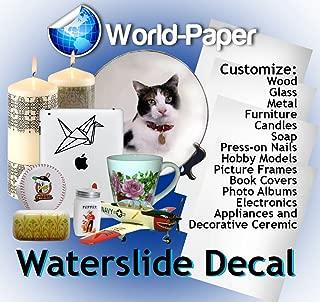 50-200 Sheets Inkjet WaterSlide Decal Paper Transparent Clear DIY for Inkjet Printers