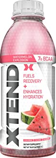 Scivation Xtend On The Go, Branched Chain Amino Acids, Bcaas, Zero Sugar Hydration & Muscle Recovery Drink with Electrolytes, Watermelon Explosion, 16.9 Oz Bottles (Pack of 12)