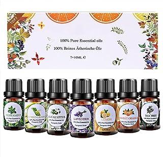 Huiles Essentielles Aromathérapie Top7 x 10ml, Huiles Essentielles 100% Pures & Naturelle pour Diffuseurs, Lavande, Orange...