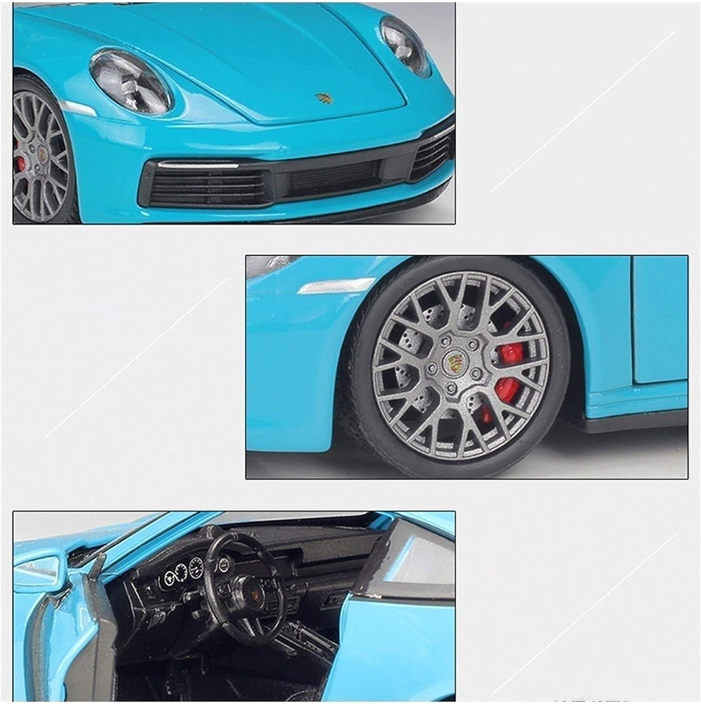 1:24 Voor Porsche 911 Carrera 4S (992) Sportwagen Zwart Simulatie Legering Auto Model Ambachten Decoratie Collection Toy Tool Gift Auto Model (Color : 10) 1
