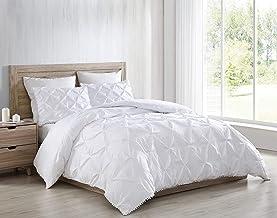 Chezmoi Collection Natalia 3-Piece Pom Pom Comforter Set,Soft Washed Microfiber Pinch Pleat Ball Fringe Bedding Set (Queen...