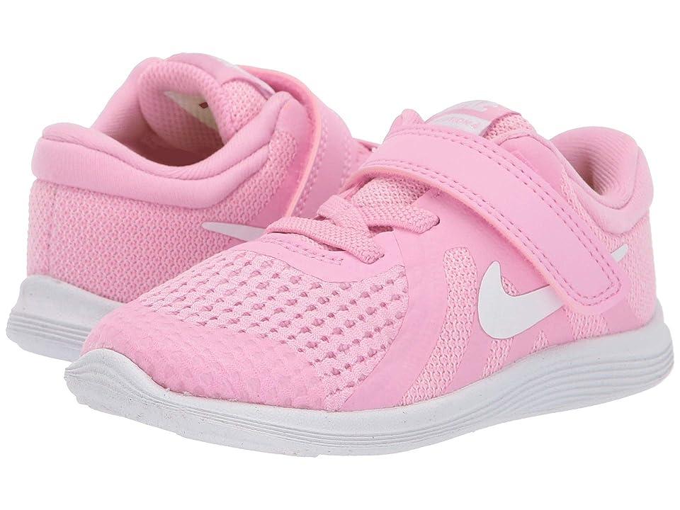 Nike Kids Revolution 4 (Infant/Toddler) (Pink Rise/White/Pink Foam/Black) Girls Shoes
