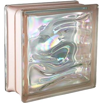5 pi/èces FUCHS briques de verre nuage rose 19x19x8 cm