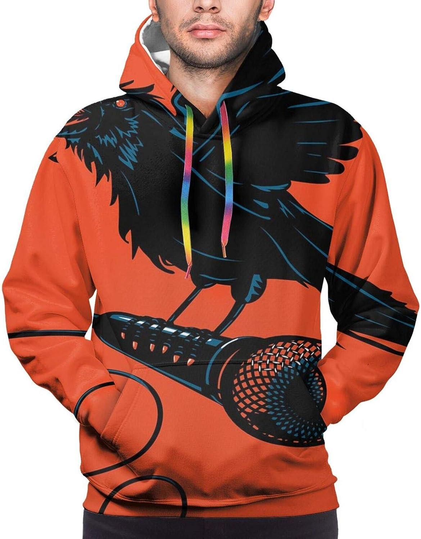 TENJONE Men's Hoodies Sweatshirts,Rastafarian Flag with Judah Lion Reggae Music Inspired Design Image