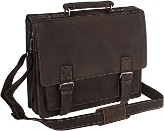 Visconti XL Business Briefcase Distressed Leather - Hercules - 16055 (Oil Brown)