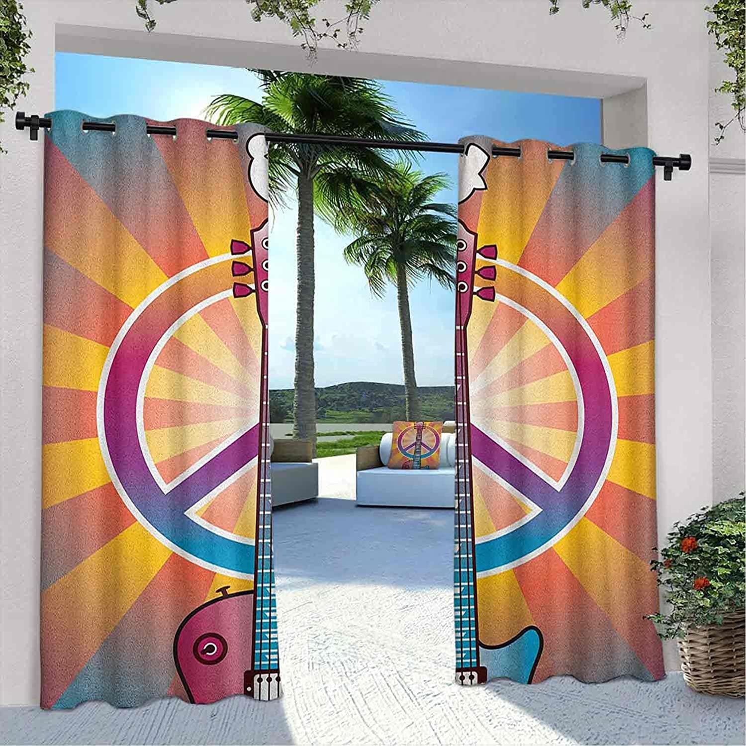 Outdoor Pavilion Retro Curtain Colorful and Peace Safety and trust Ranking TOP20 Symbol Guitar