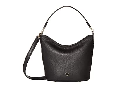 Kate Spade New York Polly Small Hobo Bag (Black) Handbags