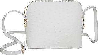 AMBRA Moda Damen Handtasche Umhängetasche Leder Tasche klein SL702