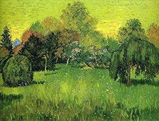 $50-$2000 Hand Painted by College Teachers - 31 Van Gogh Paintings - Public Park with Weeping Willow The Poet Garden I Vincent Van Gogh LEPS5 - Art Oil Painting on Canvas -Size07