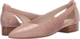 Mahogany Rose Embossed Croco Print Leather