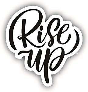 A&B Traders Rise UP Laptop Stickers - Inspirational Car Decals, Water Bottle Sticker, Cute Car Accessories Stickers for Phone, Quotes Stickers for Laptops, MacBook Air/Pro Skin Decal (5 INCH)