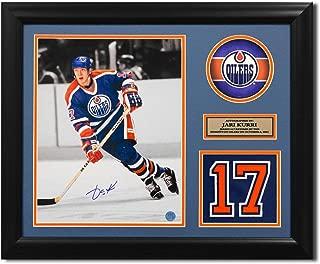 Jari Kurri Edmonton Oilers Signed Retired Jersey Number 23x19 Frame - Autographed NHL Photos