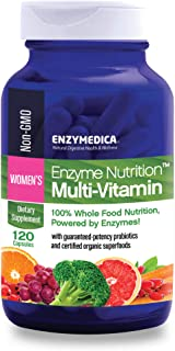 Enzymedica, Enzyme Nutrition Women's Multi-Vitamin, Support for a Healthy Heart, Immune Function and Energy, Non-GMO, 120 ...