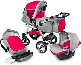 Buggie Urbano Red Zone | 3-in-1-System | Kinderwagen, Kombikinderwagen, Babyschale,..