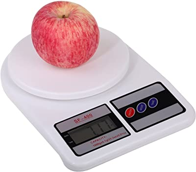 MG MART™ Digital Electronic 10 Kg Weight Scale Machine LCD Kitchen Weight Scale for Measuring Fruits, Spice, Food, Vegetable,White