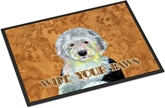 """Caroline's Treasures Old English Sheepdog Wipe Your Paws Indoor or Outdoor Mat, Multicolor, 24"""" x 36"""""""