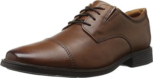 Clarks - Chaussure Homme Tilden Cap, 41.5 EUR, EUR, Dark Tan Leather  service honnête