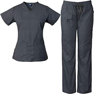 Womens Scrub Set Utility 4 Pocket top, 7 Pocket 2043 Pant with D-Ring