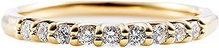 カナディアンダイヤモンド リング 計0.20ctUP [K18YG] ハーフエタニティ 専用ケース付 18号