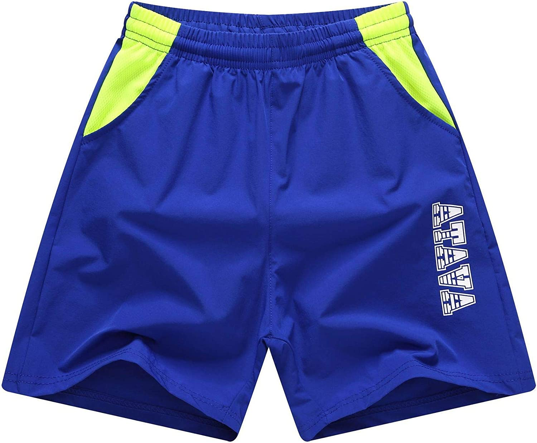 GUNLIRE Boy's Swim Trunks Summer Quick Dry Elastic Waist Beach Shorts with Pockets