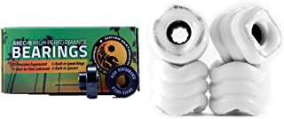 Shark Wheel 70mm or 60mm Longboard/Cruiser Wheels (78a) with Free Shiver ABEC 9 Bearings
