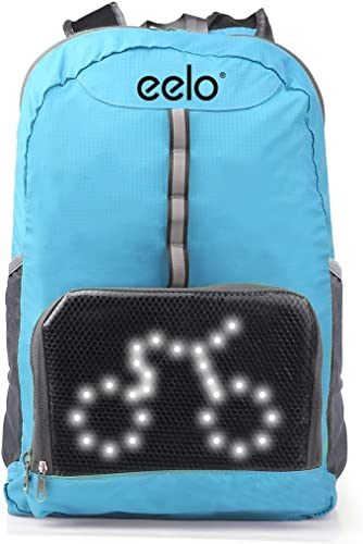 discount eelo Cyglo Safety high quality Backpack for wholesale Cycling with Rear LED Signal Indicators. Reflective Rucksack with Flashing Direction Lights online