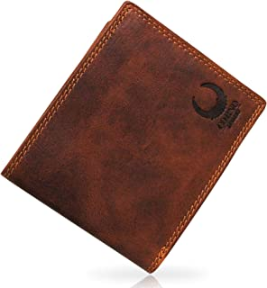 Corno d'Oro Cartera de piel 43007W para hombre XL con protección RFID, con compartimento para monedas de piel auténtica