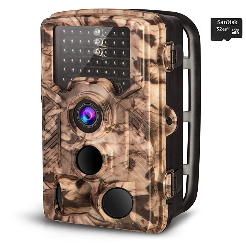 AIMTOM Trail Hunting Camera 16MP Image 1080P Video 46Pcs Infrared LEDs 0.2S Trigger Time Waterproof Night Vision 120° Wide Angle 2.4