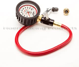 Longacre 50482 Deluxe 2.5 GID Tire Gauge 0-100 By 1 lb With Angle Chuck