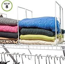 Best closet shelf dividers for wire shelving Reviews