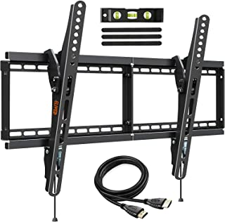 Tilting TV Wall Mount Low Profile Universal TV Mount Bracket for 37-70 Inch LED LCD OLED Flat Screen TVs, Large Tilt TV Mo...