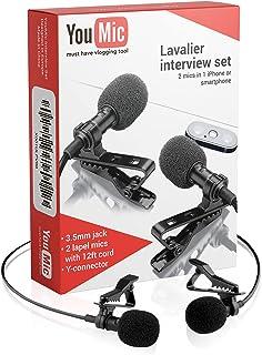 Micrófono De Solapa Dual - Micrófono De 2 Solapas - Juego De Micrófono De Solapa - Micrófono De 2 Paquetes Para Entrevist...
