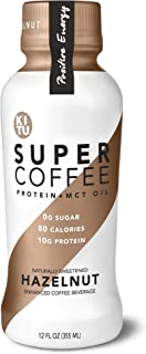 Kitu by Sunniva Super Coffee Hazelnut Sugar-Free Formula, 10g Protein, Keto Approved, Lactose Free, Soy Free, Gluten Free, Pack of 12
