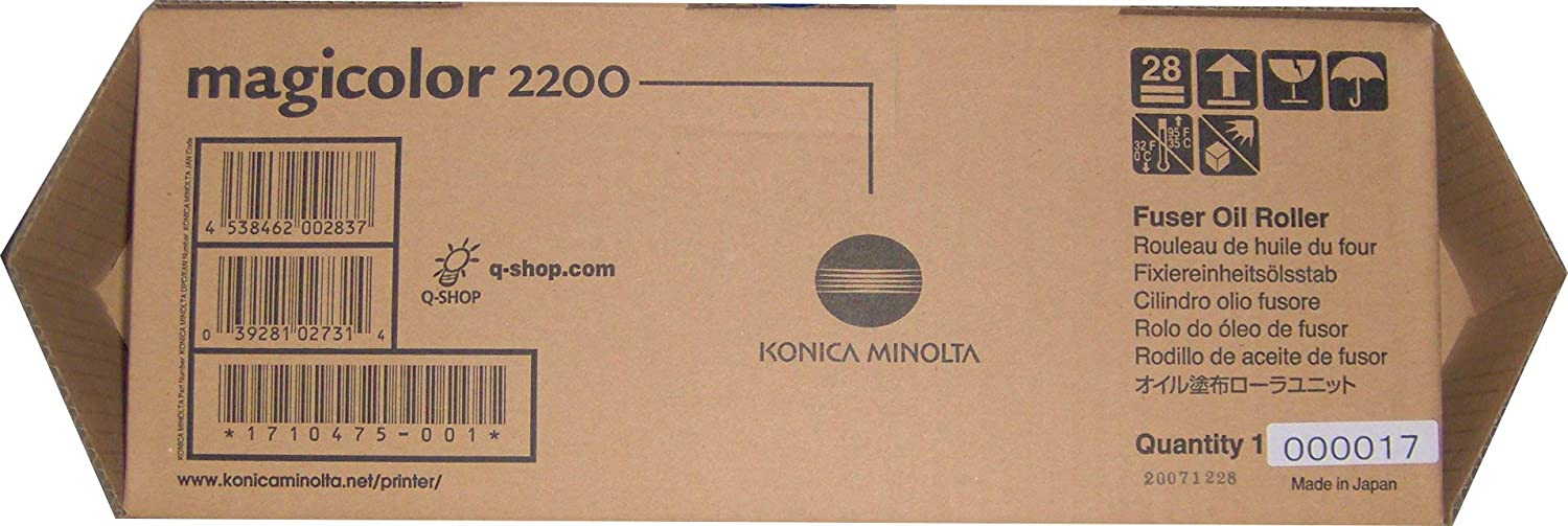 Genuine Easy-to-use Free Shipping Konica Minolta Laser Fuser 1710475-001 Oil Roller