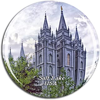 Weekino USA America Temple Square Salt Lake Fridge Magnet 3D Crystal Glass Tourist City Travel Souvenir Collection Gift Strong Refrigerator Sticker
