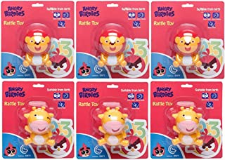 Angry Birds Rattle Toy Cow, Lion (Bundle Pack of 6) , Bundle Pack of 1
