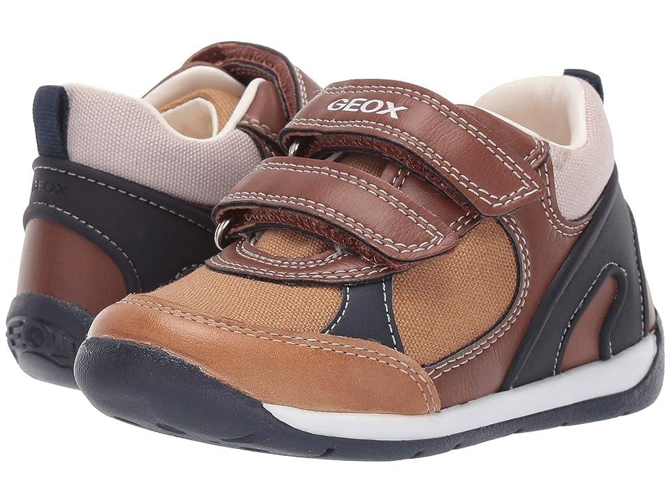 Geox Kids B Each Boy 26 (Toddler) (Caramel/Navy) Boy